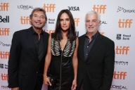 """Rob Friedman, Co-Chairman of Lionsgate Motion Picture Group, Jennifer Connelly and Patrick Wachsberger, Co-Chairman of Lionsgate Motion Picture Group, seen at Lionsgate's """"American Pastoral"""" Premiere at the 2016 International Film Festival on Friday, Sept. 9, 2016, in Toronto. (Photo by Eric Charbonneau/Invision for Lionsgate/AP Images)"""