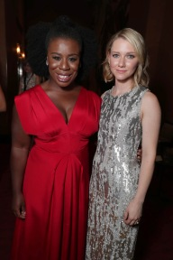 "Uzo Aduba and Valorie Curry are seen at Lionsgate's ""American Pastoral"" Premiere at the 2016 International Film Festival on Friday, Sept. 9, 2016, in Toronto. (Photo by Eric Charbonneau/Invision for Lionsgate/AP Images)"
