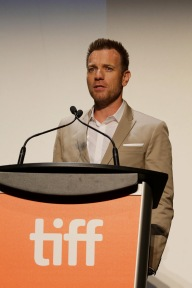 """Director Ewan McGregor speaks at Lionsgate's """"American Pastoral"""" Premiere at the 2016 International Film Festival on Friday, Sept. 9, 2016, in Toronto. (Photo by Eric Charbonneau/Invision for Lionsgate/AP Images)"""
