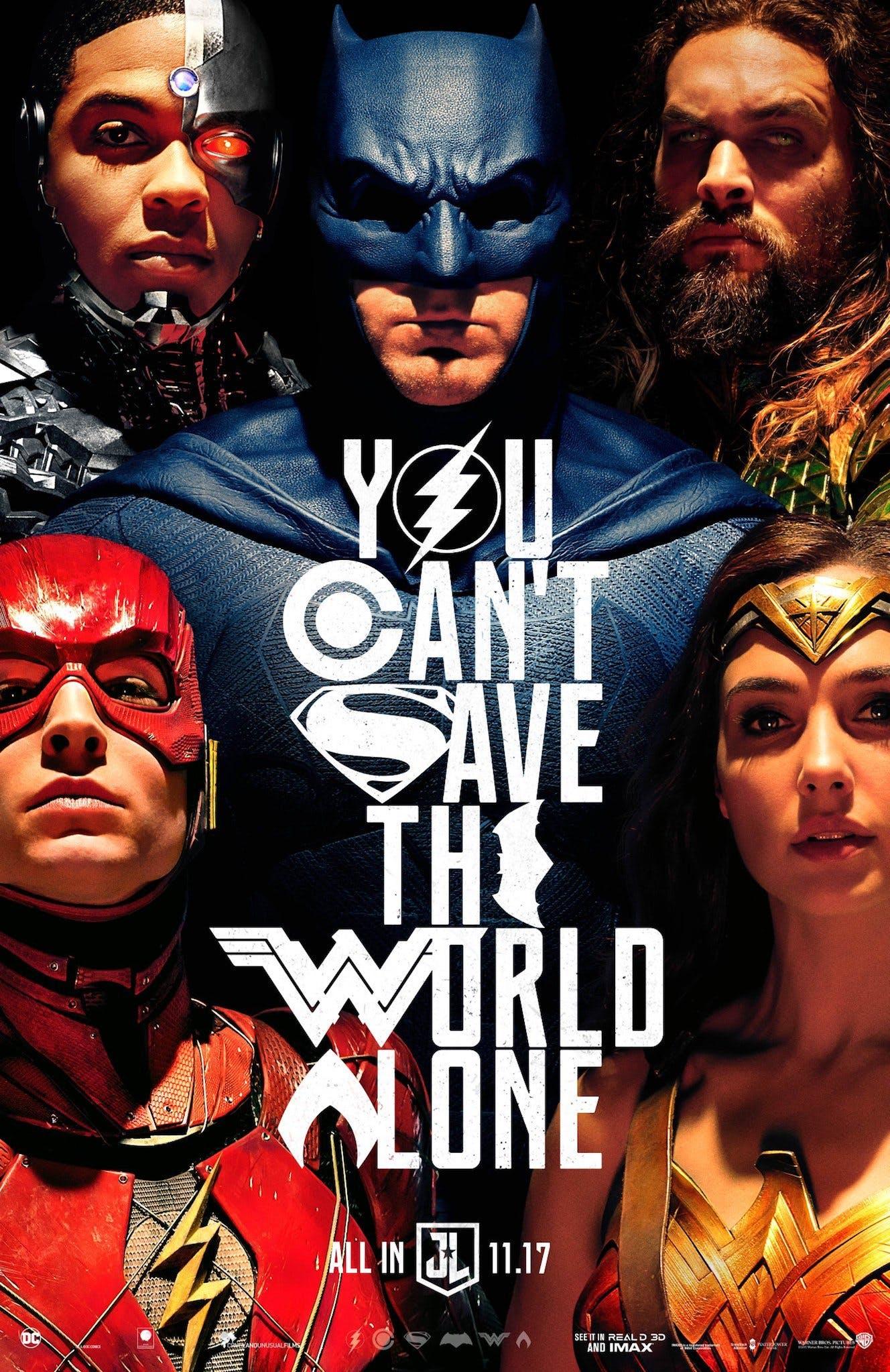 Justice League Poster/ Λεγεώνα Δικαιοσύνης Αφίσα